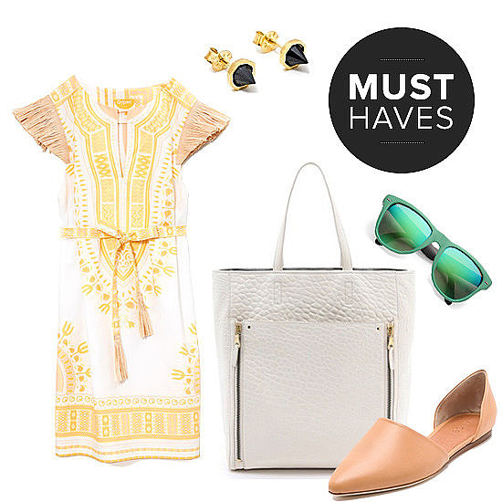 The POPSUGAR Fashion team is ready to slip into effortless dresses and breezy tops for the end of Spring this month. May's shopping list highlights are a raffia-sleeve sundress, lucite bangles, printed cat-eye sunglasses, boyish overalls, and much more!