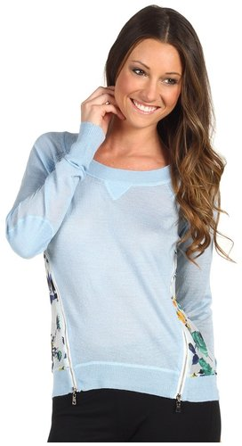 SACHIN + BABI - Kamala Sweater (Light Blue Floral Print) - Apparel