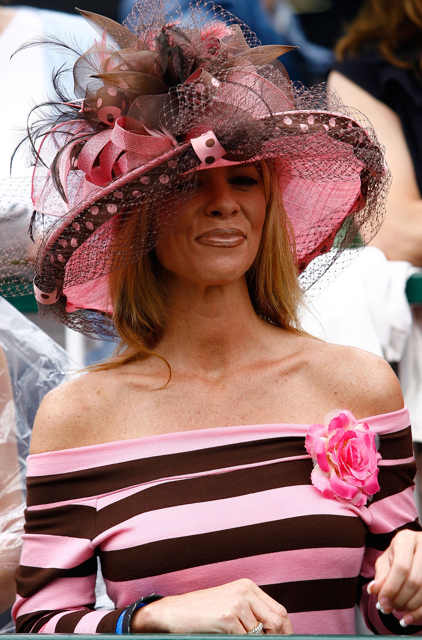 A spectator looked on as races were run the day before the running of the 133rd Kentucky Derby on May 4, 2007.