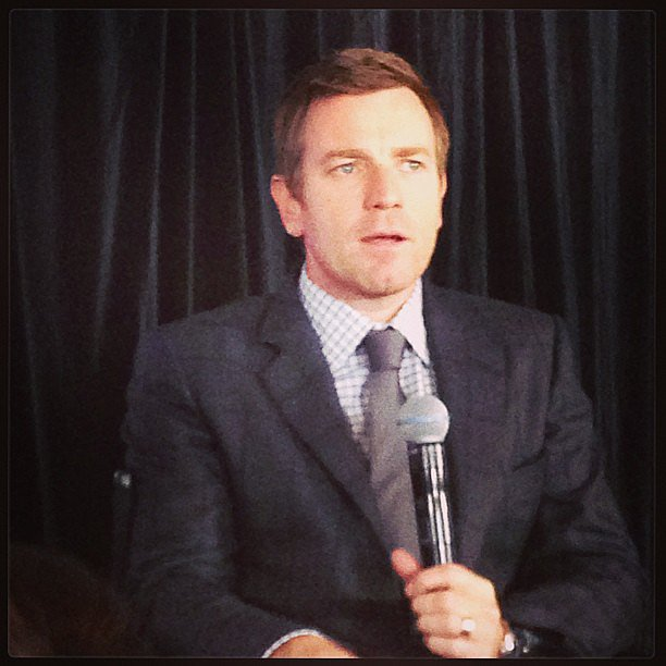 Spotted! Our colleague, Luke from Gizmodo, snapped Ewan McGregor doing his thang at an LG launch in Sydney.