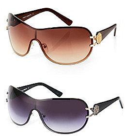 Vince CamutoTM Crest Logo with Backframe Combo Shield Sunglasses