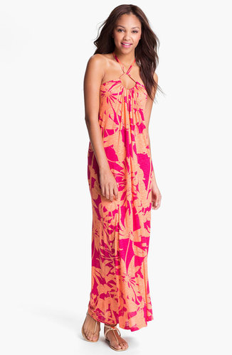 Velvet by Graham & Spencer Floral Print Halter Maxi Dress