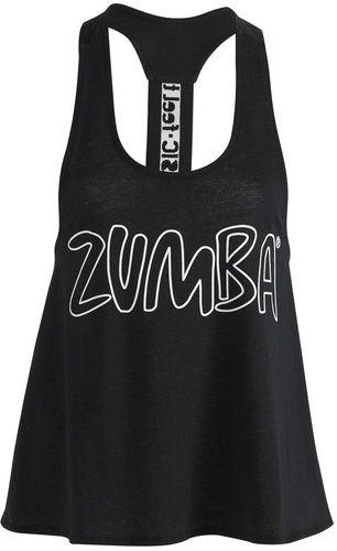 Zumba Party On Loose Racerback - Black