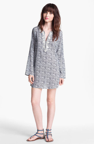 Soft Joie Soutache Trim Print Tunic