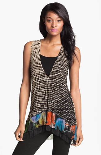 Komarov Print Sleeveless Tunic with Tank