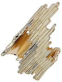 Gold look spike 2 pack rings