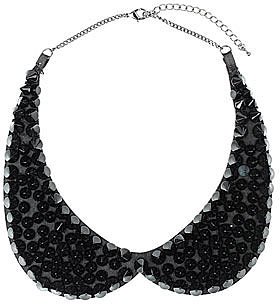 Black spike Peter Pan necklace