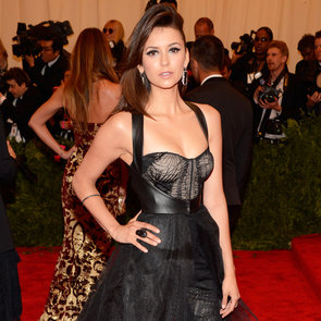 Nina Dobrev Wears Monique Lhuillier Jumpsuit to the Met Gala