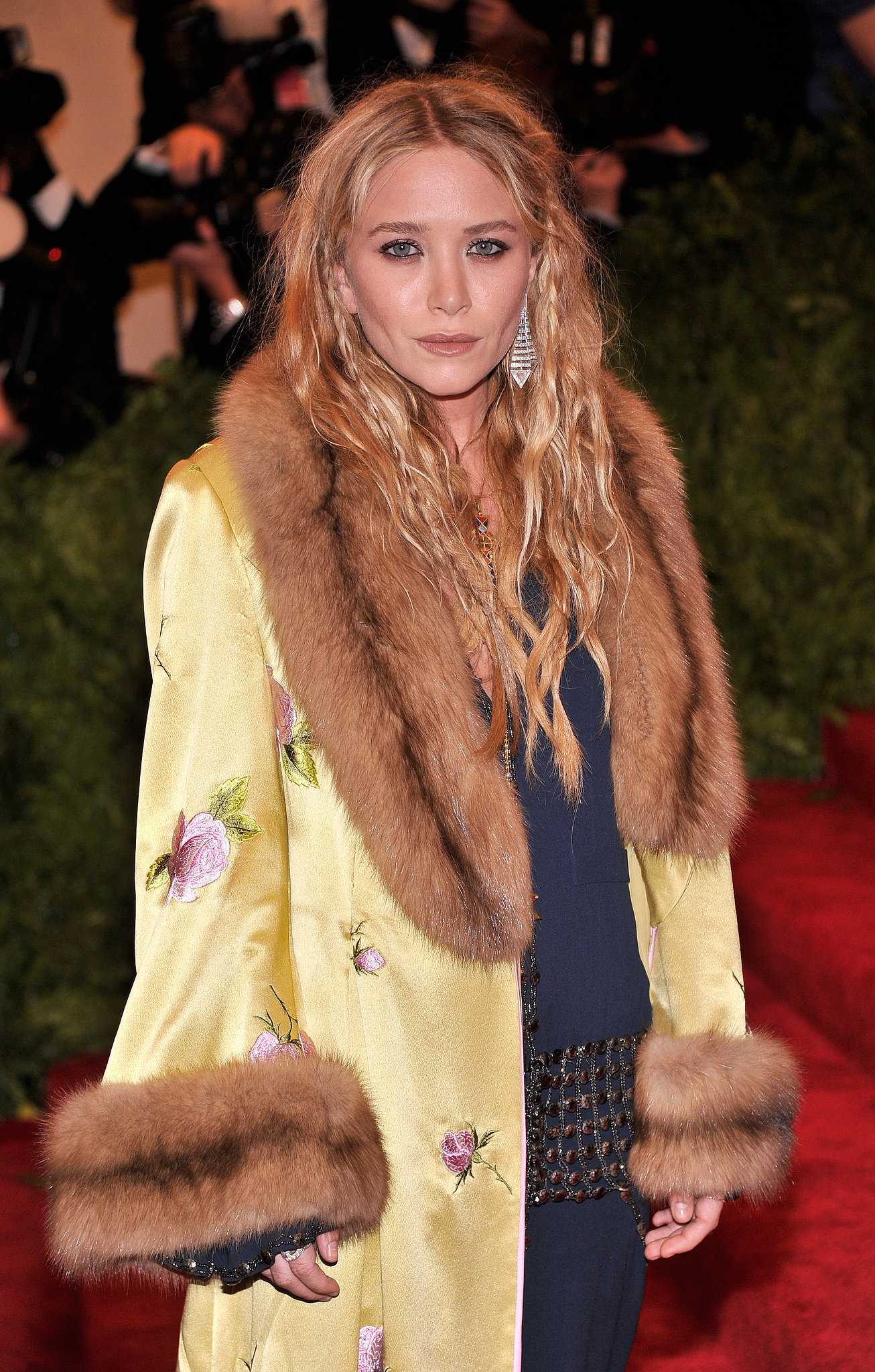 A headful of random braids added to Mary-Kate Olsen's beachy waves.