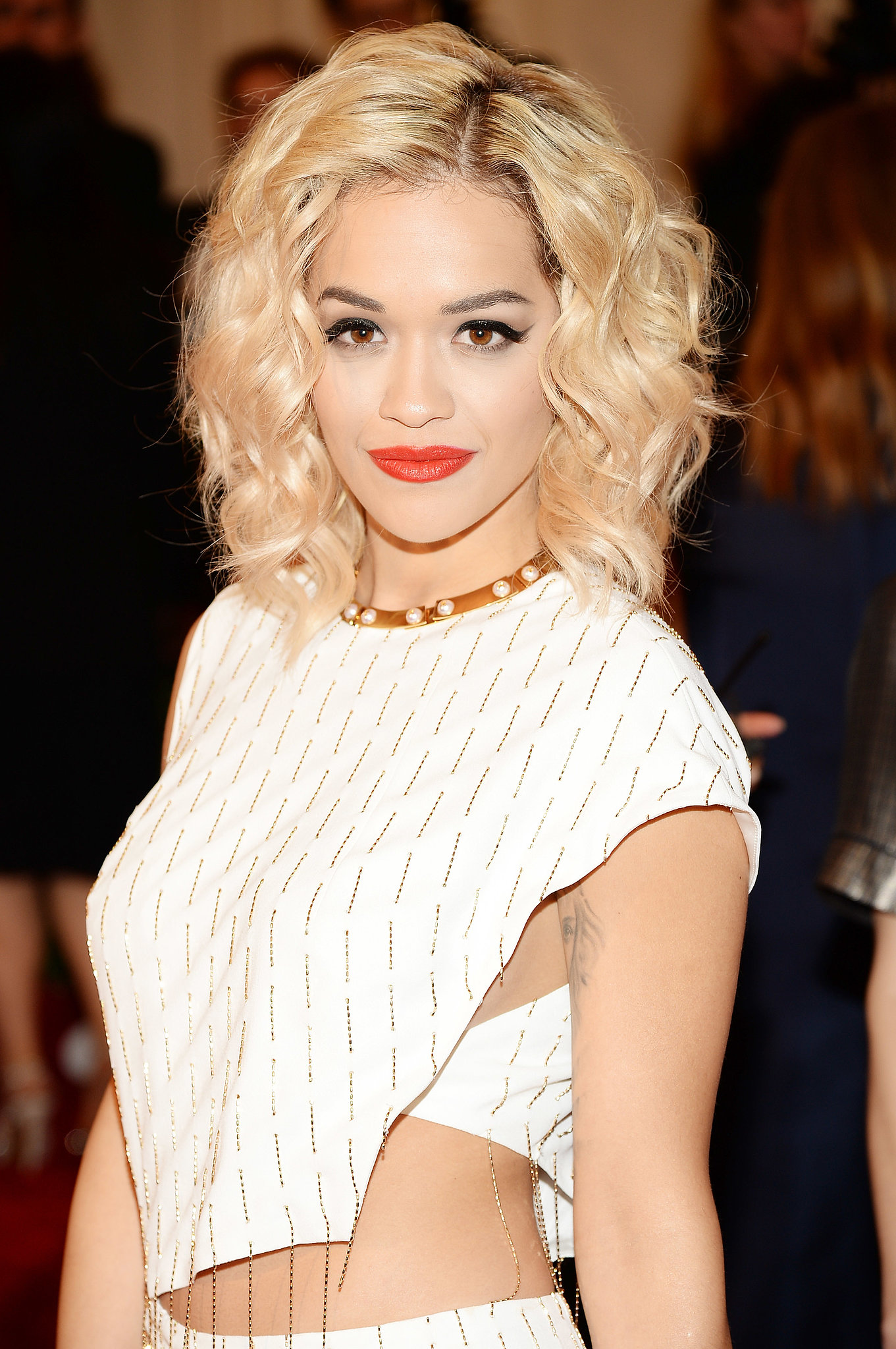 Rita Ora's short hair looked adorable styled in some beachy waves.