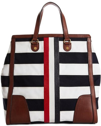 Stripe Mackintosh Tote