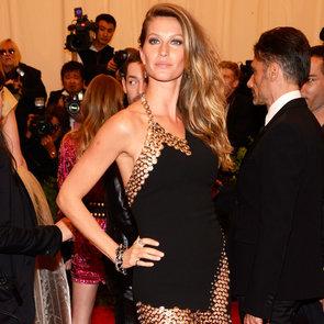 Pics of Gisele Bundchen in Anthony Vaccarello, 2013 Met Gala