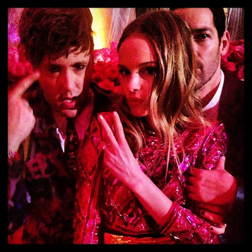 Andrew Bevan hit the dance floor with Kate Bosworth and her fiancé Michael Polish. Source: Instagram user bevansburg