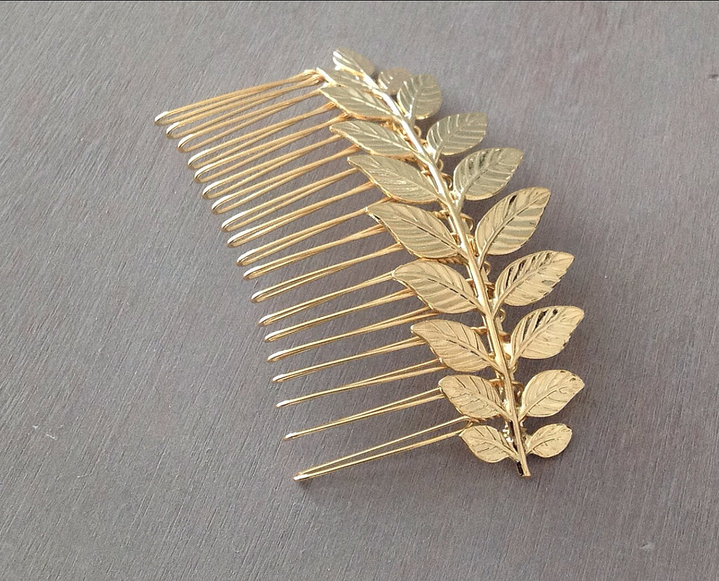 You don't have to fly to Santorini to feel like a Grecian goddess. This Greek branch hair comb ($30) adds the perfect touch.