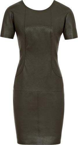 Eugenie LEATHER T SHIRT DRESS