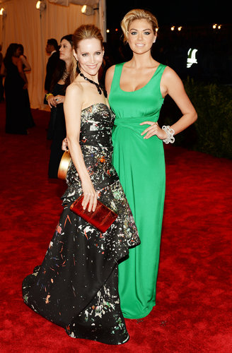 Leslie Mann and Kate Upton at the Met Gala 2013.