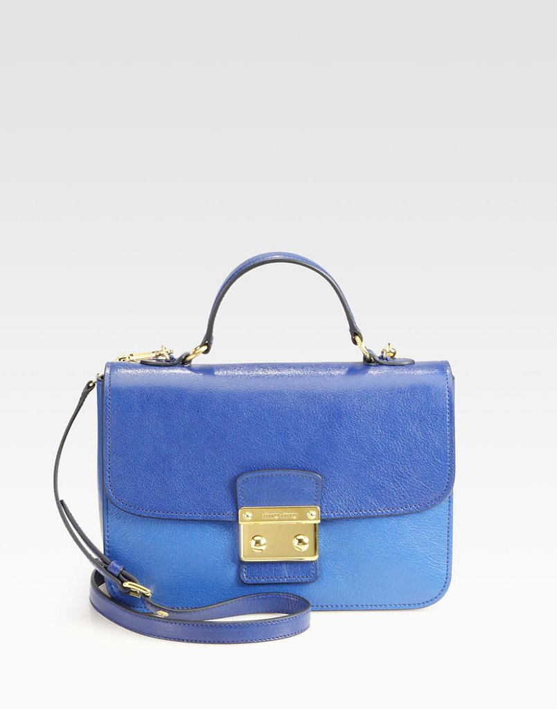 This Spring, bags went on a serious slim-down. The oversize, overstuffed shape has stopped feeling quite so omnipresent, replaced instead with smaller (lighter!) shapes. Get in on the action with this two-toned Miu Miu pick ($1,450).