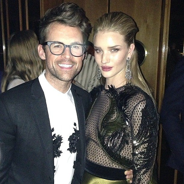 Stylist Brad Goreski shared a photo of him and Rosie Huntington-Whiteley looking flawless after 2 a.m. Source: Instagram user mrbradgoreski