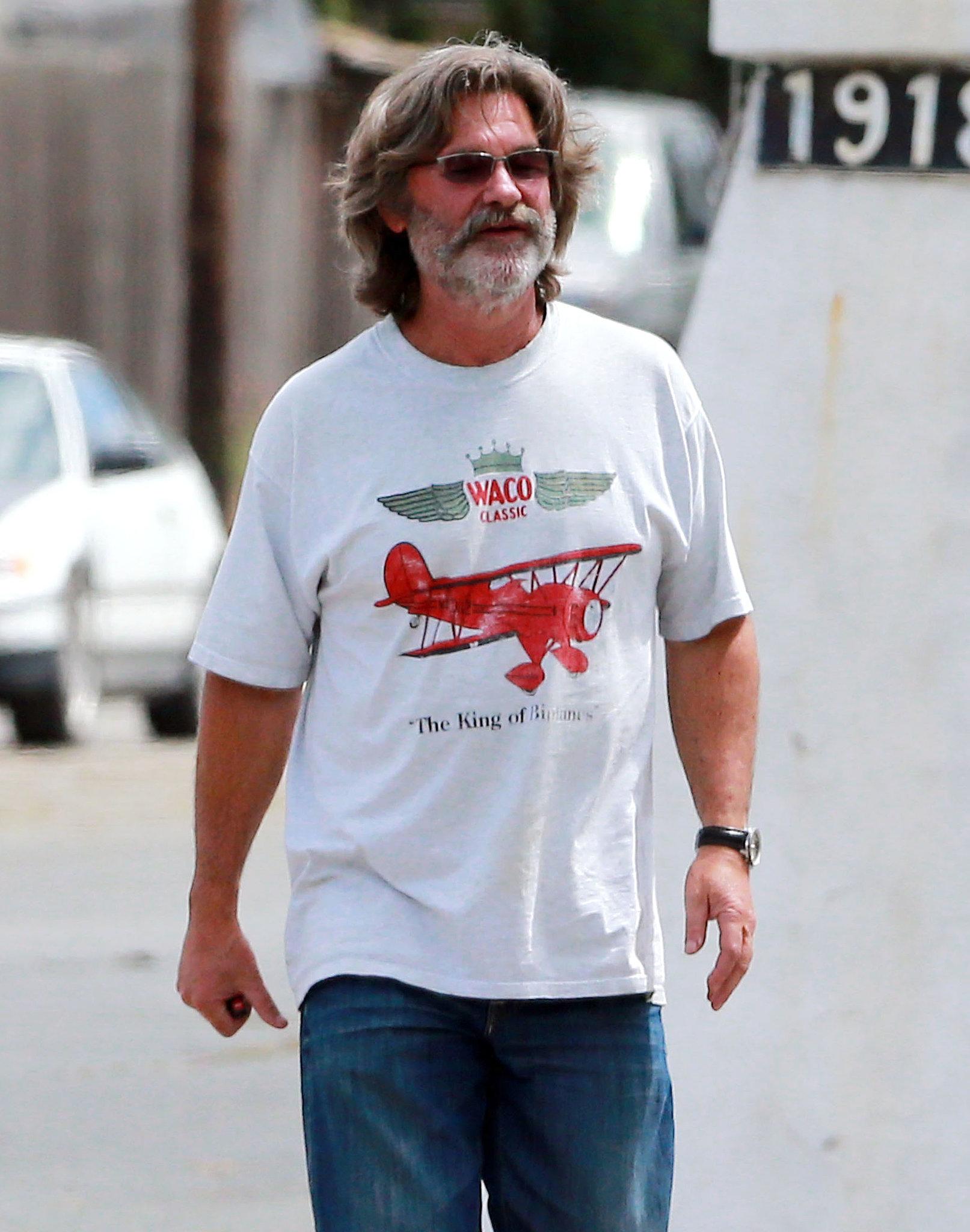 Kurt Russell went wine tasting on Monday.