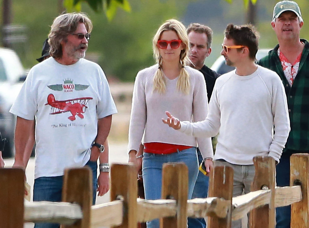 Kate Hudson went wine tasting in Santa Barbara with fiancé Matthew Bellamy and stepdad Kurt Russell.