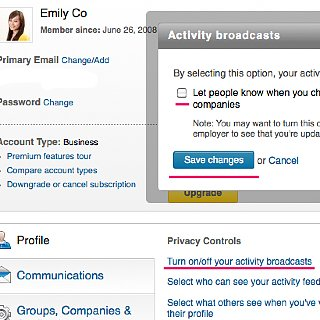 How to Stop Notifications When Updating LinkedIn Profile