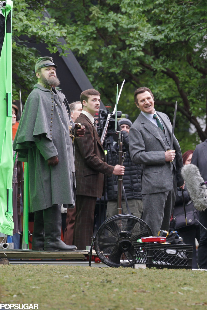 Liam Neeson and John C. Reilly filmed a scene together.
