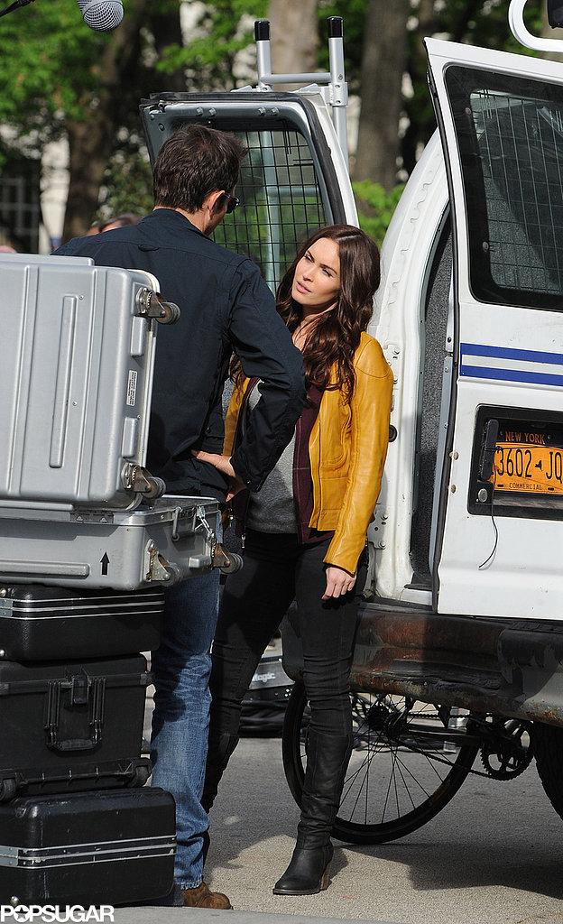 Megan Fox filmed a scene with Will Arnett.