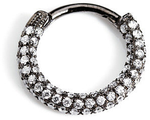 Maria Tash Black Rhodium Diamond Clicker