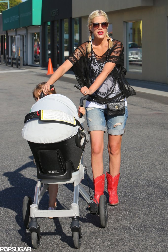 Tori Spelling and her husband, Dean McDermott, welcomed a baby boy, Finn Davey, in August 2012.