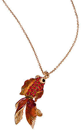 Andrew Hamilton Crawford Crystal Koi Fish Pendant Necklace