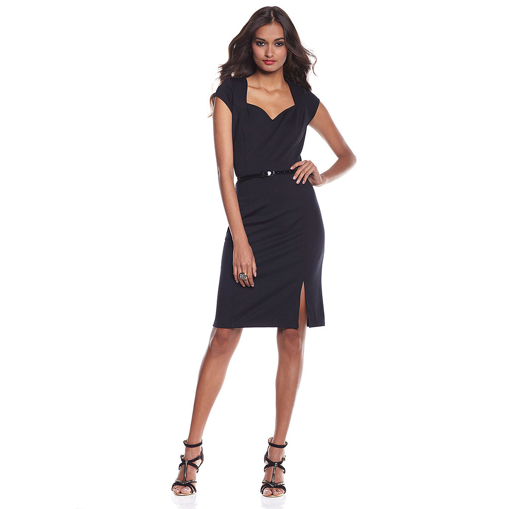 G by Giuliana Rancic Ponte Knit Belted Dress A combination of fit, function, and fabulousness, this sweetheart-neck dress will flatter your shape and highlight your best assets. Choose the black version as your go-to LBD for the season, or try the hot pink for a day-to-night look that's guaranteed to turn heads.