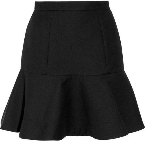 Miu Miu Flared cotton-garbardine skirt