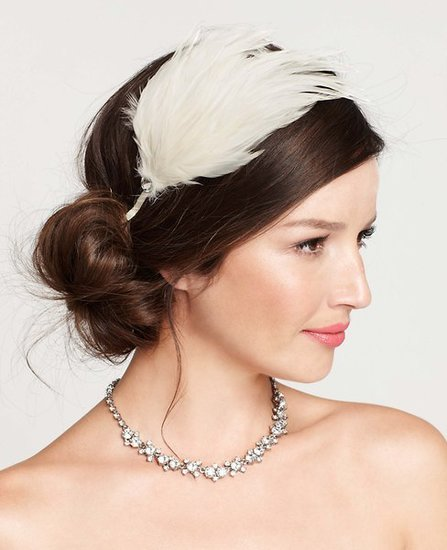 Embellished Feather Headband