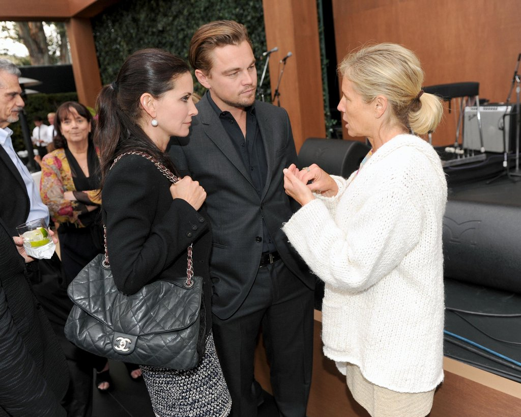 Leo mingled with friend Courteney Cox at an event in Malibu back in June 2011.