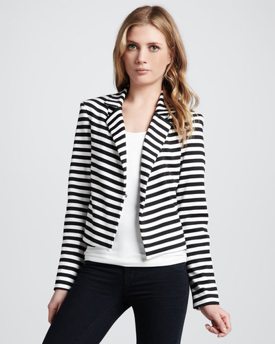 Robbi & Nikki Striped Knit Blazer