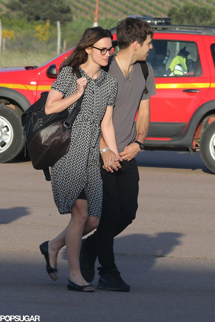 Keira Knightley and James Righton held hands.