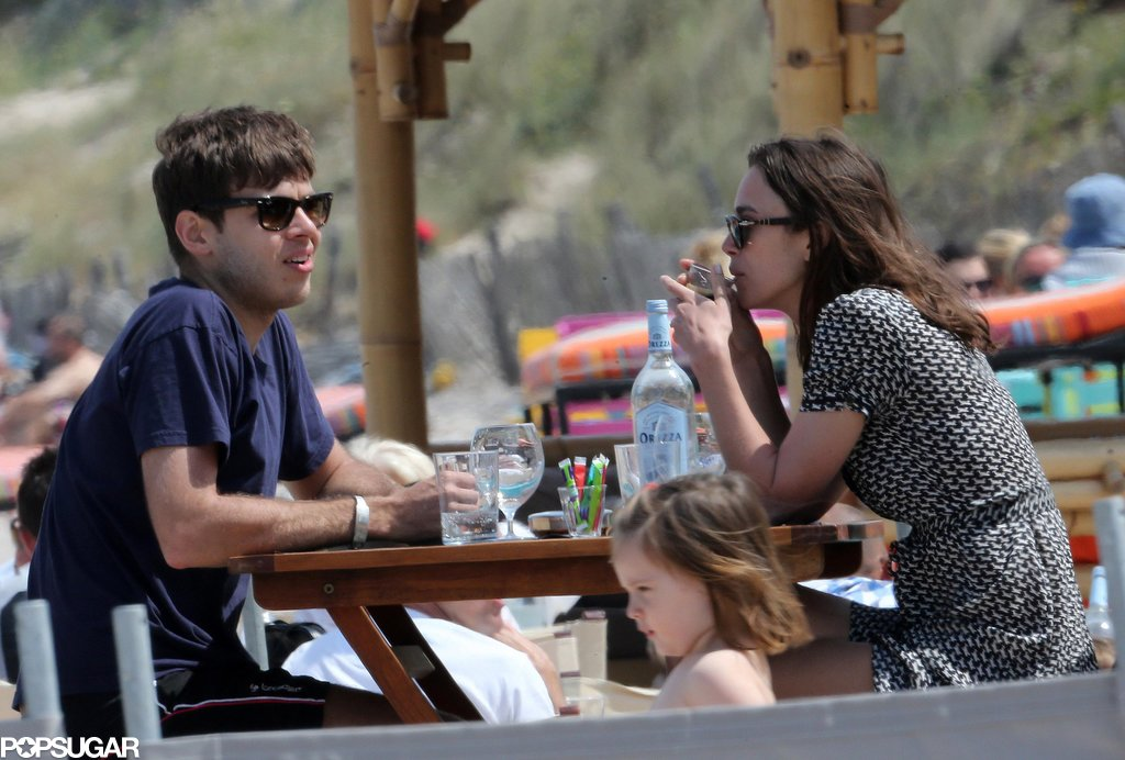 Keira Knightley and James Righton dined in Corsica.