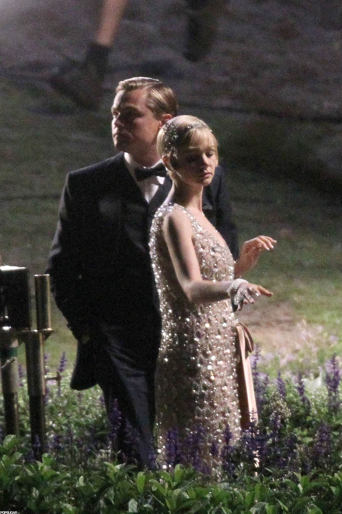 Leo filmed scenes for The Great Gatsby with Carey Mulligan in December 2011.