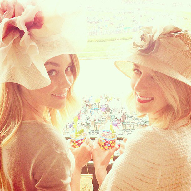 Lauren Conrad and a friend showed off their Kentucky Derby style at the race. Source: Instagram user laurenconrad