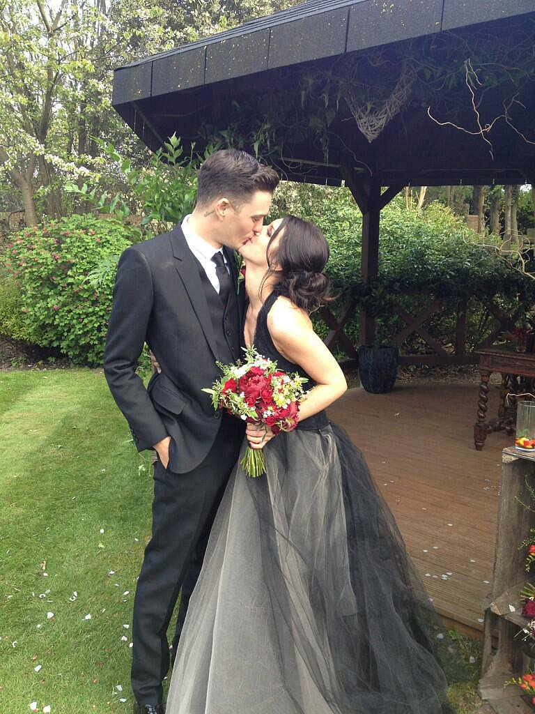 Shenae Grimes tied the knot with model and musician Josh Beech just outside of London in May.  Source: Twitter user senaegrimes