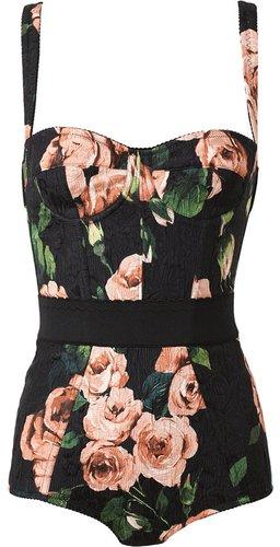 Dolce & Gabbana floral print body suit