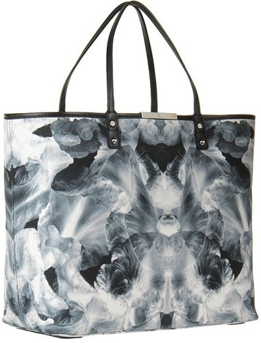McQ - Large Tote (Black/White) - Bags and Luggage