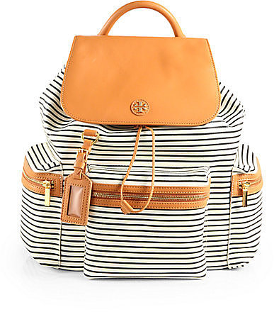 Tory Burch Viva Striped Backpack