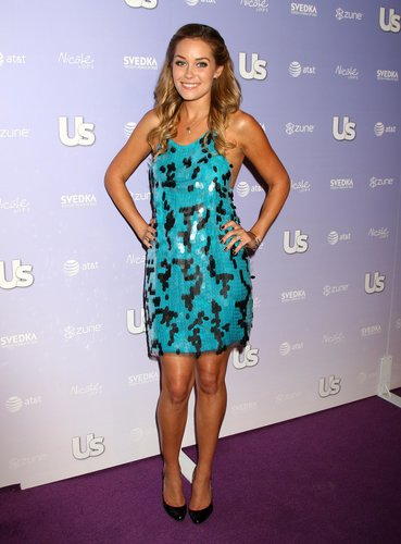 At a 2008 Us Weekly party, the blond stunner wowed in a turquoise paillette creation and patent pumps. Lesson from Lauren: every girl needs a pair of classic black pumps.