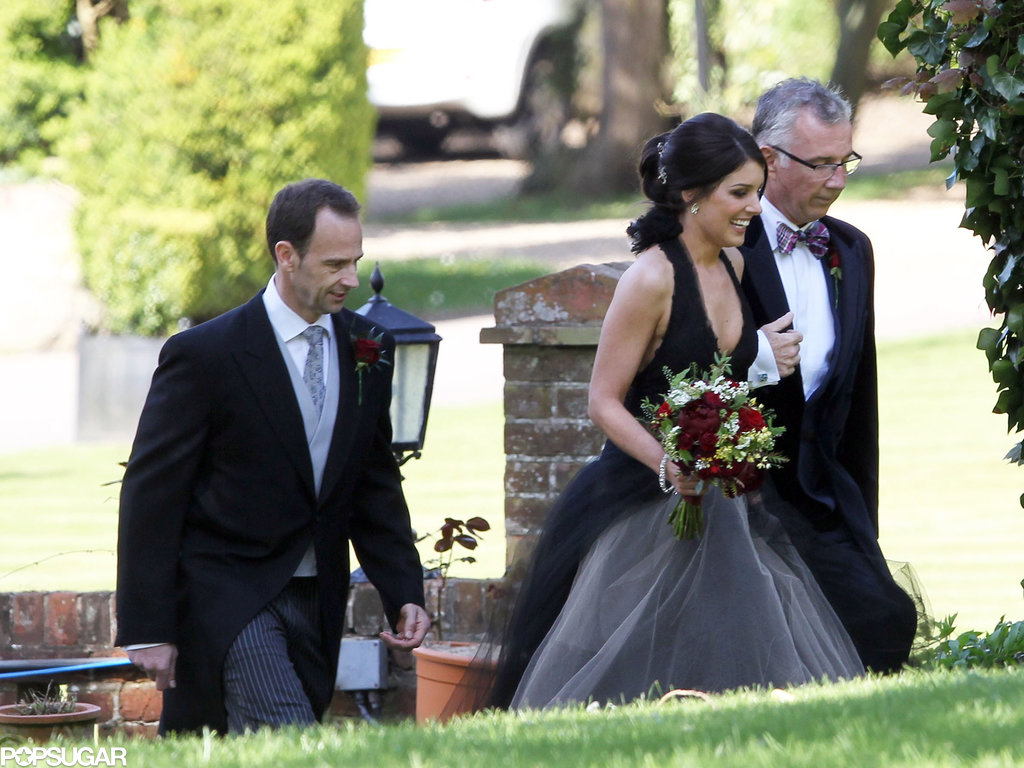 Shenae Grimes wore a black Vera Wang wedding dress for her ceremony outside of London.