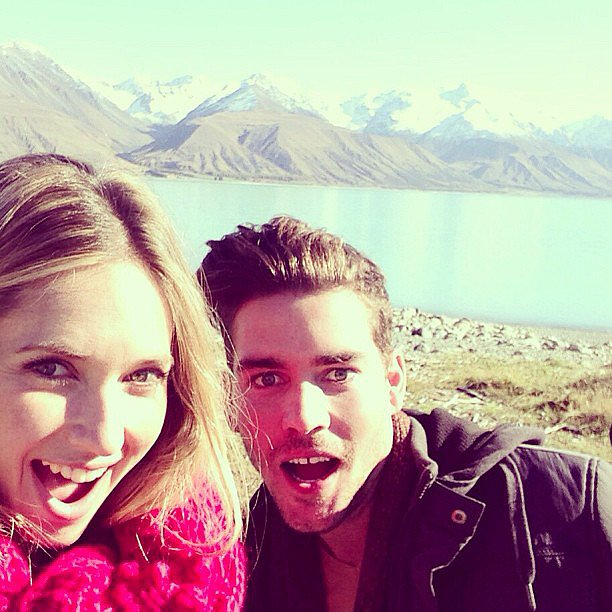 Models Nikki Phillips and Nathan Jolliffe took a cute selfie while shooting a new Jeanswest campaign in Phillips' native New Zealand. Source: Instagram user nathanjolliffe