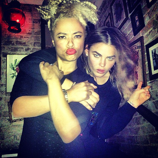 Connie Mitchell from Sneaky Sound System hung out with her good friend, Aussie model Bambi Northwood-Blyth. Source: Instagram user stefbambi_