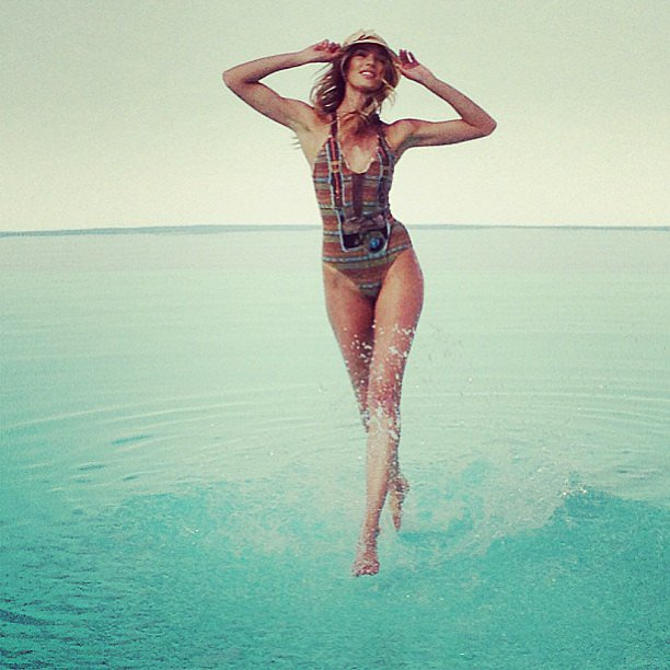 Candice Swanepoel, walking on water? Source: Instagram user angelcandice