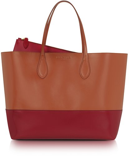Rochas Two-Tone Leather Tote
