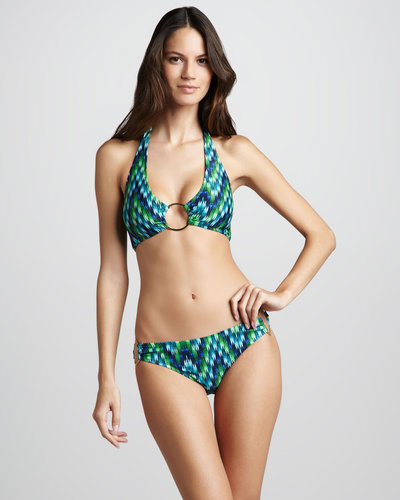 Milly Printed Ring Bikini Top